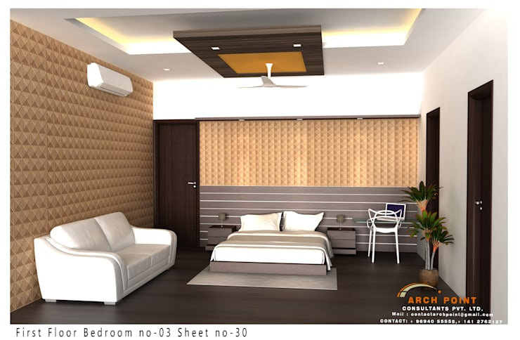Bedroom : modern Bedroom by Arch Point
