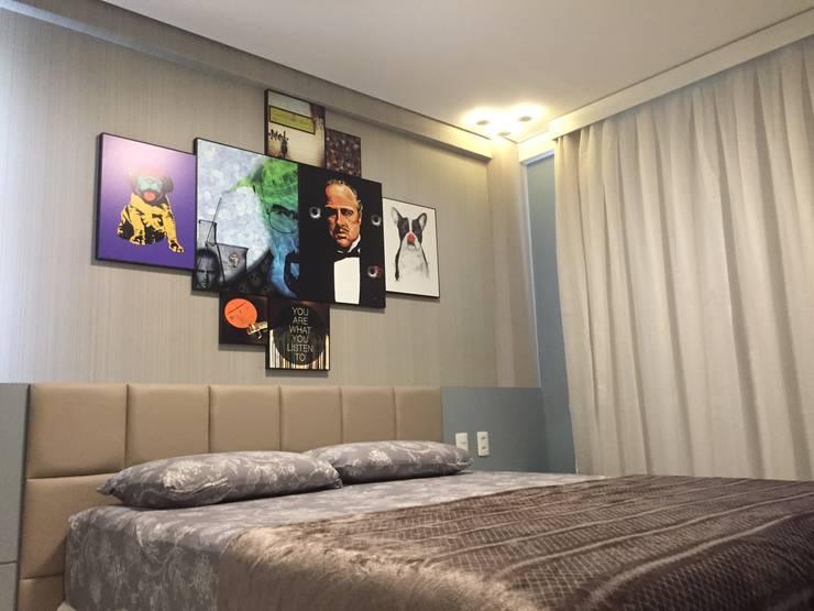 Casa de Praia:  Bedroom by brunadiogenes.liviafeitosa
