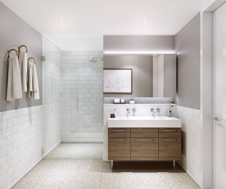 Master Bathroom:  Bathroom by Abodde Housing,