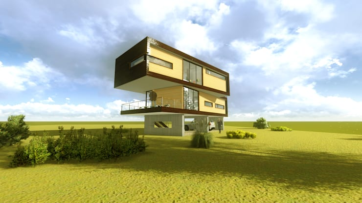 Vista exterior 1:  de estilo  por artefacto arquitectura