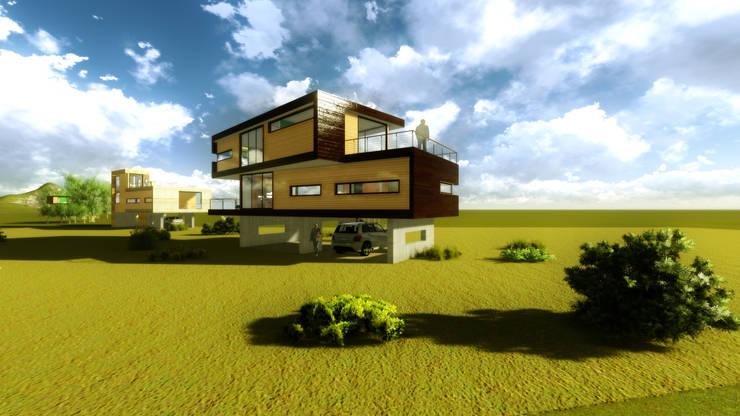 Vista exterior 2:  de estilo  por artefacto arquitectura