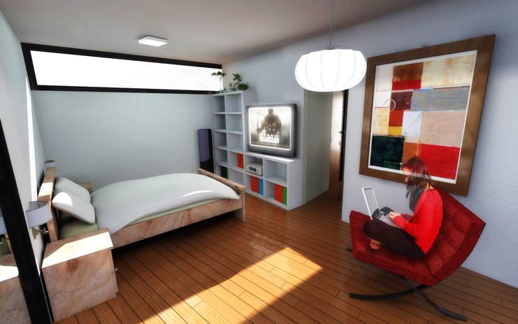 Dormitorio:  de estilo  por artefacto arquitectura