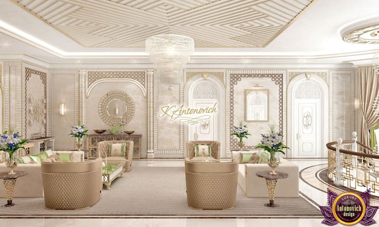 ​Beautiful houses from Katrina Antonovich:  Living room by Luxury Antonovich Design, Classic