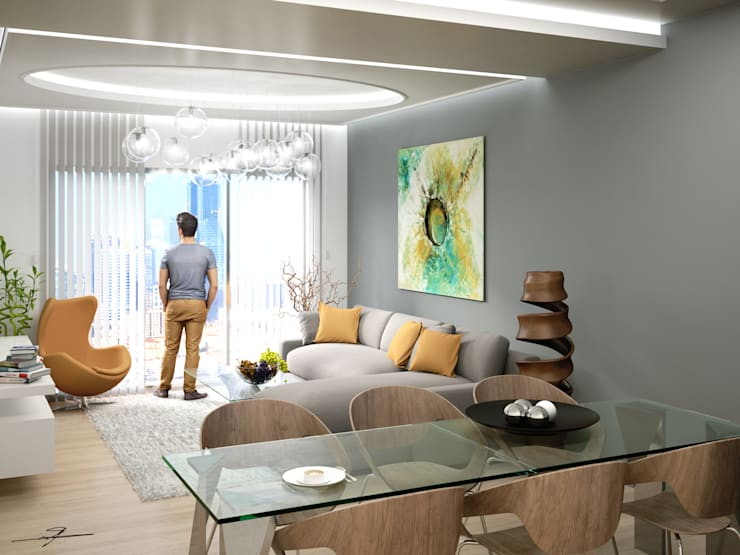 modern Living room by MHD Design Group