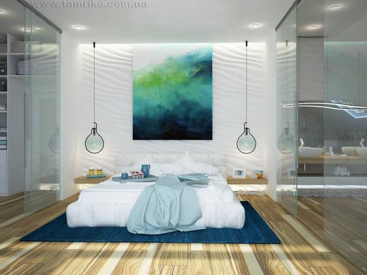Projekty,  Sypialnia zaprojektowane przez Tamriko Interior Design Studio