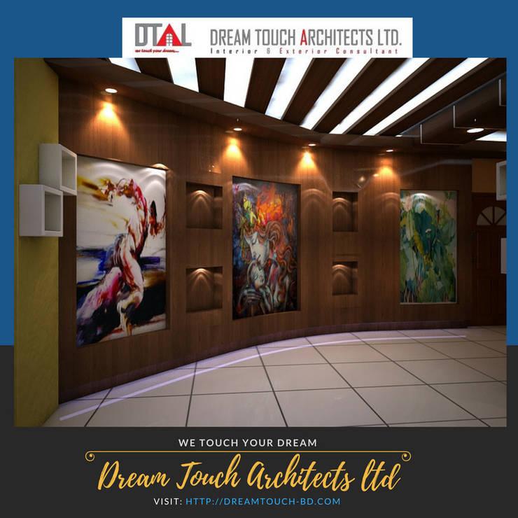 Foyer Design by Dream Touch Architects Ltd:  Walls & flooring by Dream Touch  Architects Ltd.
