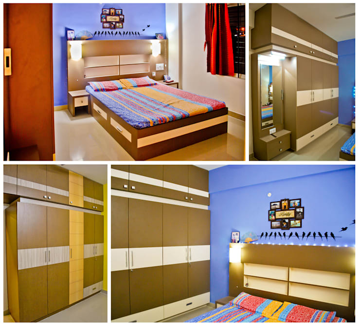 Master bedroom : modern Bedroom by Space Collage