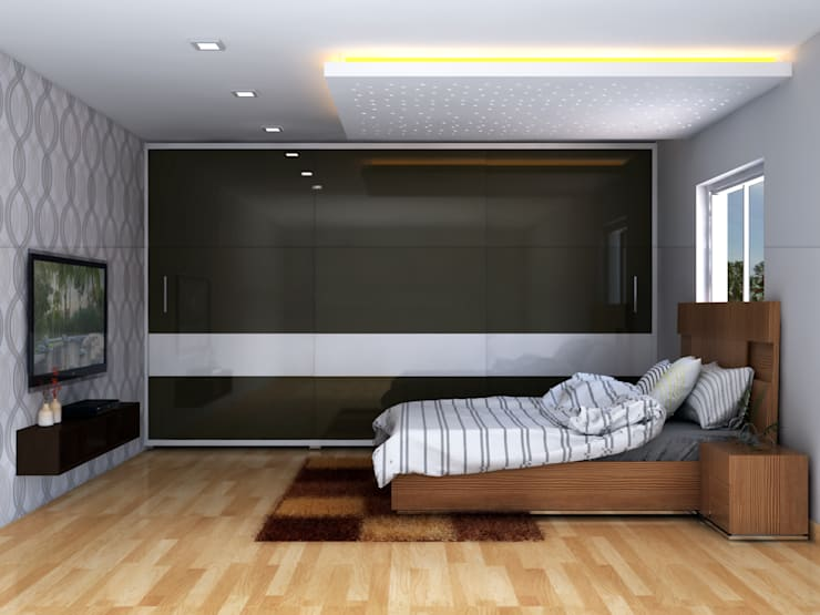 Master Bedroom :   by Antar - A Firm of Interior Designers