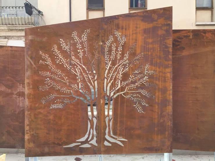 Dettaglio acciaio CORTEN: Giardino in stile in stile Moderno di Chendù