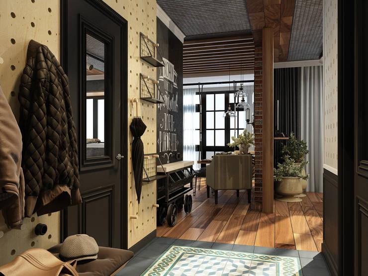 Pasillos y recibidores de estilo  por Alyona Musina