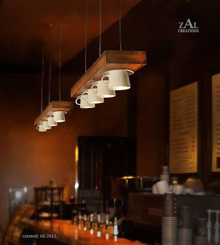 DISEÑO DE UNA CAFETERIA: Vestíbulos, pasillos y escaleras de estilo  por P A Z A R T E