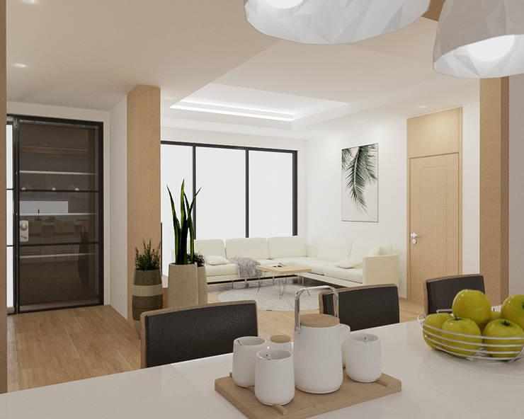 리모델링주택 주방디자인: 디자인 이업의  빌트인 주방
