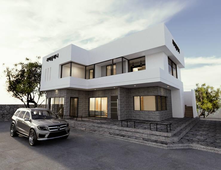 주택 디모델링 외관 및 파사드 디자인: 디자인 이업의  전원 주택
