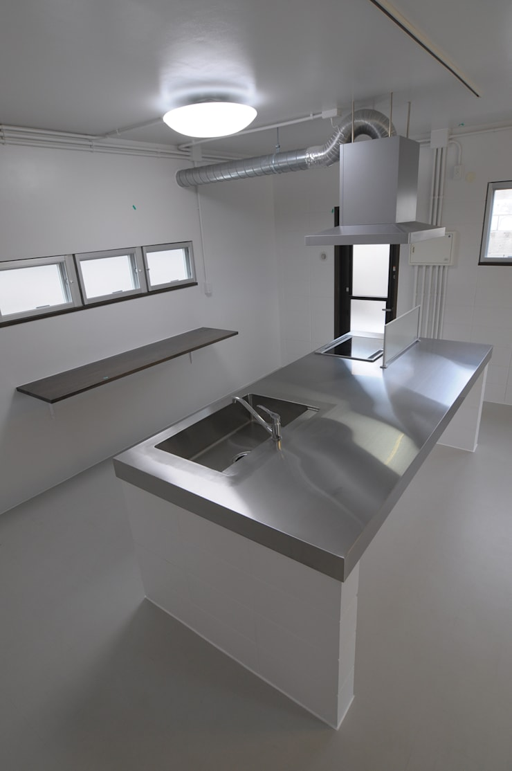Kitchen by hacototo design room, Industrial Iron/Steel