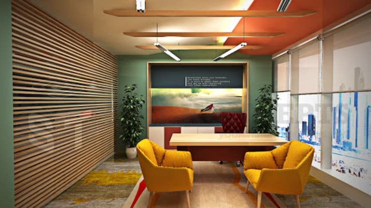 office Interior :  Study/office by s3tkoncepts,Modern