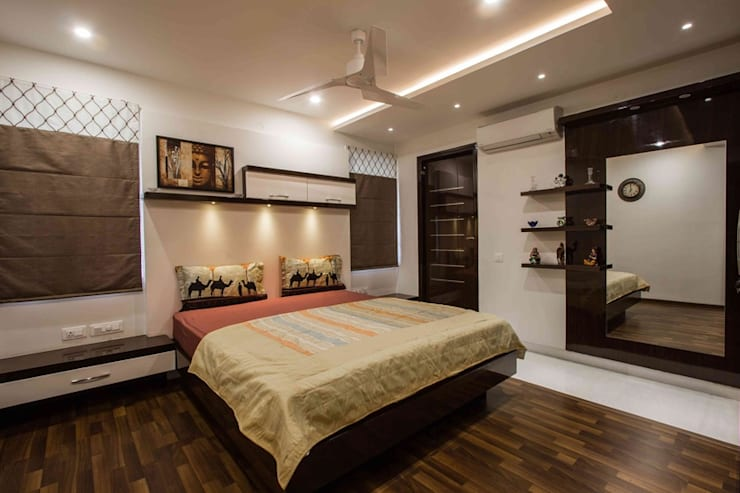 3BHK_ Mr.Narayana Rao_ Parrys Interior Decoration_ Site photos: modern Bathroom by Arcmen kitchens And Interiors