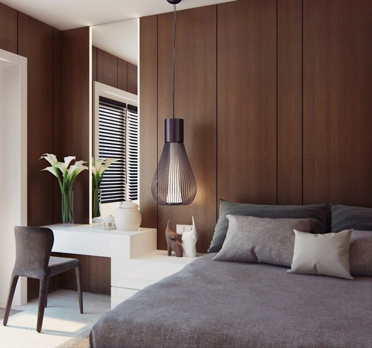 Apartment Design:  Bedroom by CONCEPTIONS