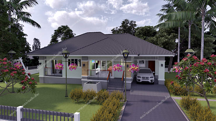 房子 by แบบบ้านออกแบบบ้านเชียงใหม่