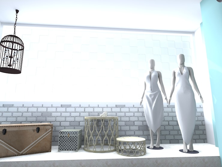 台中印度舞精品商品店:  商業空間 by 樂乙設計
