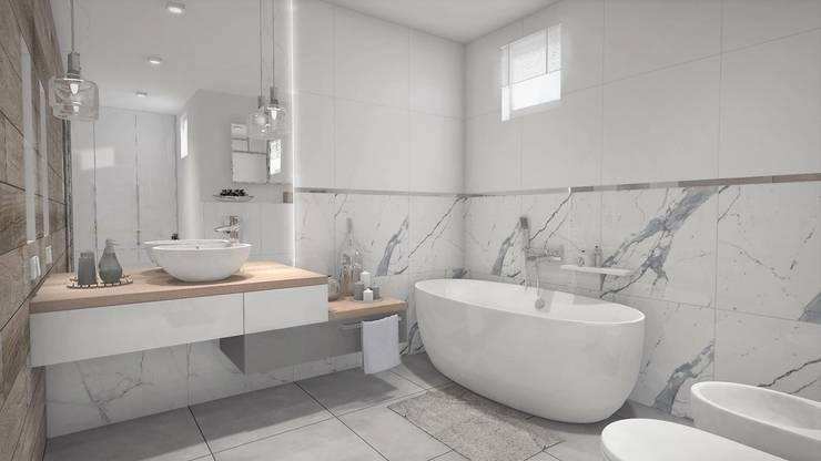 łazienka Z Wanną Wolnostojącą By Projekty Wnętrz Laura Kozak