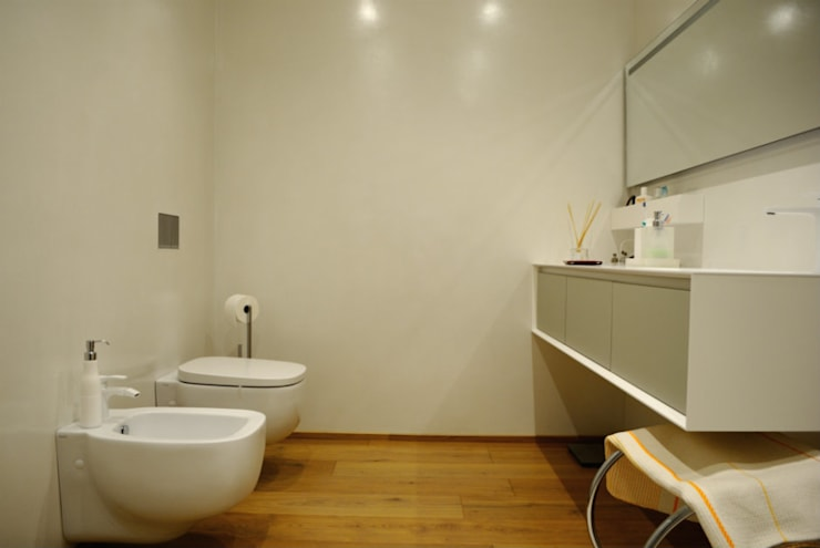 Bagni in resina e cucina yellow style by due punto zero homify