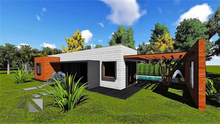 Casa Minimalista Apiay:  de estilo  por ARQUITECTOnico