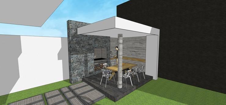 Caney-Parrillera: Casas unifamiliares de estilo  por MARATEA Estudio