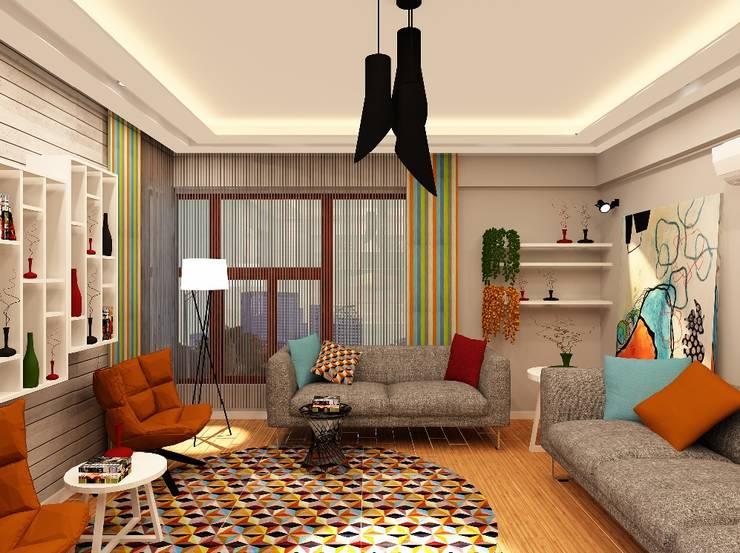 Mozeta Mimarlık – Gümüş Evi Oturma Odası:  tarz Oturma Odası