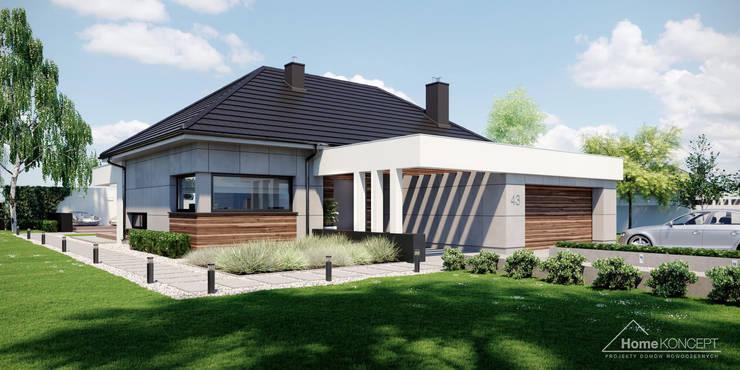 Projekt domu HomeKONCEPT 43: styl , w kategorii  zaprojektowany przez HomeKONCEPT | Projekty Domów Nowoczesnych