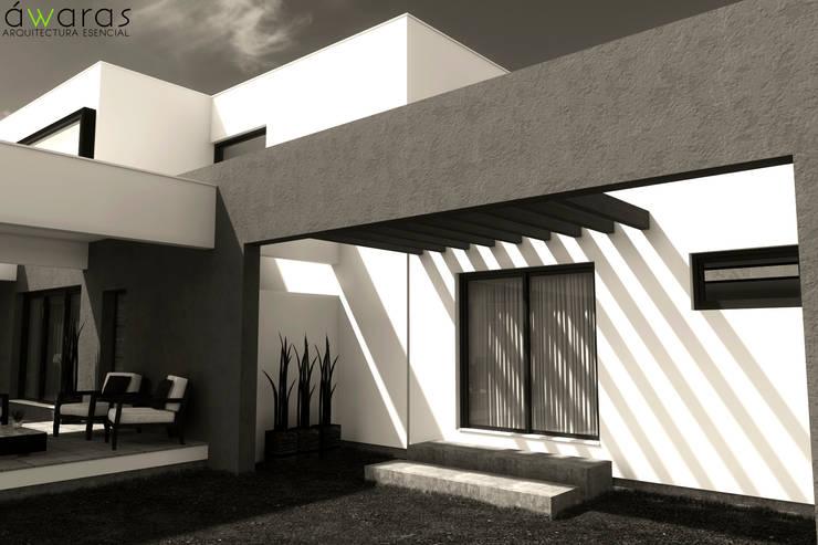 CASA LC: Casas unifamiliares de estilo  por áwaras arquitectos