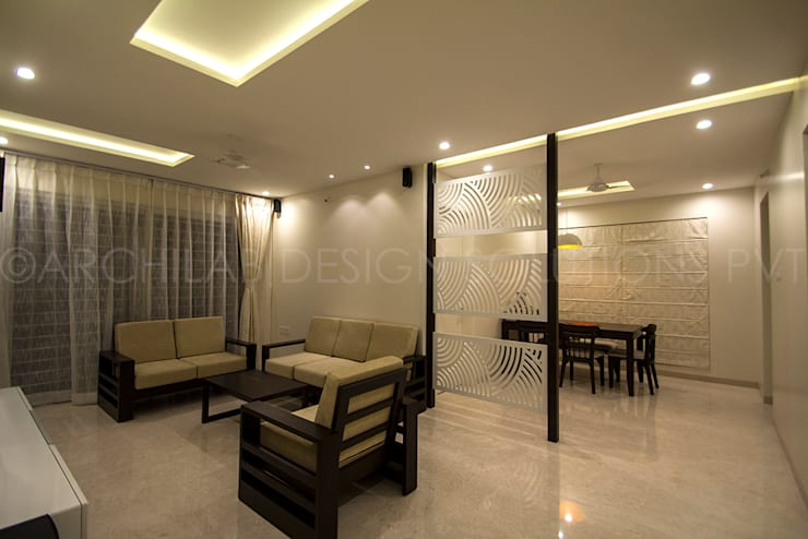 LIVING :  Living room by Archilab Design Solutions Pvt.Ltd.