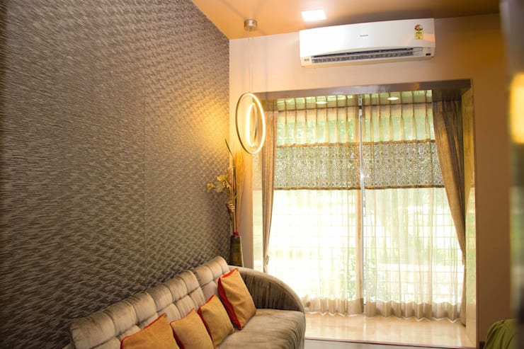 Ms. Suman, Chembur:  Bedroom by Aesthetica