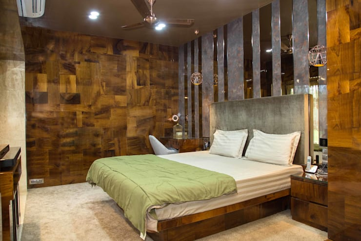 Ms. Suman, Chembur:  Bedroom by Aesthetica