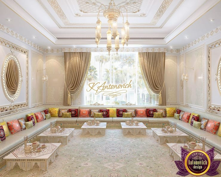 ​Interior design company in Dubai Luxury Antonovich Design:  Dining room by Luxury Antonovich Design