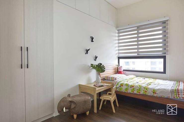 台中-精銳:  嬰兒房/兒童房 by 禾廊室內設計