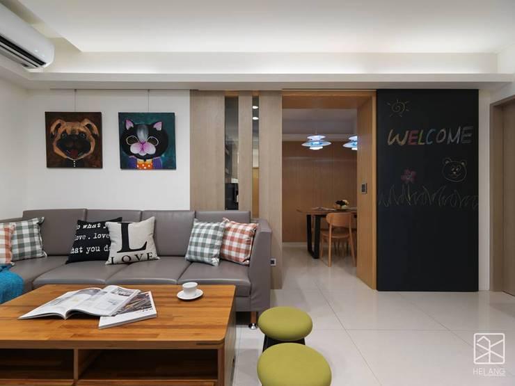 沙發區:  客廳 by 禾廊室內設計