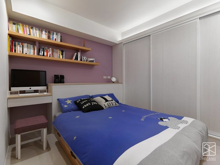 次臥:  臥室 by 禾廊室內設計