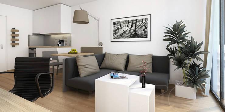 home module wohnfl che 61 m2 von casaplaner modulhaus schweiz homify. Black Bedroom Furniture Sets. Home Design Ideas