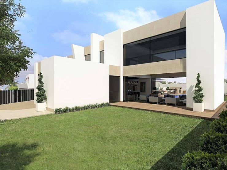 Casa JC: Casas de estilo moderno por Víctor Díaz Arquitectos