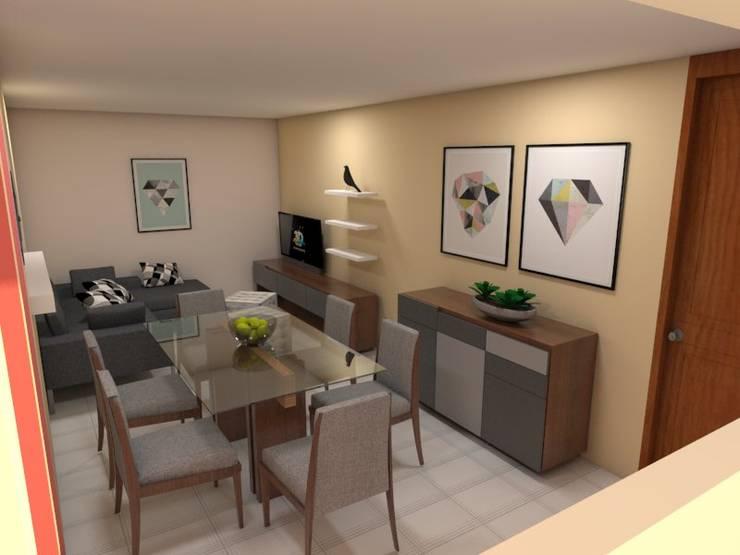 15 salas y comedores peque os que comparten espacio con estilo for Casa con cocina y comedor juntos
