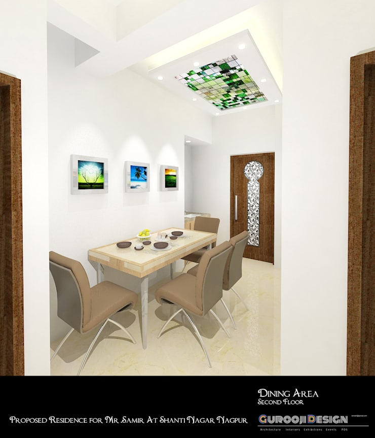 asian Dining room by Gurooji Design