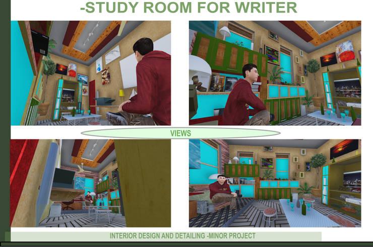 Writer's Study Room:   by RDzine Architects