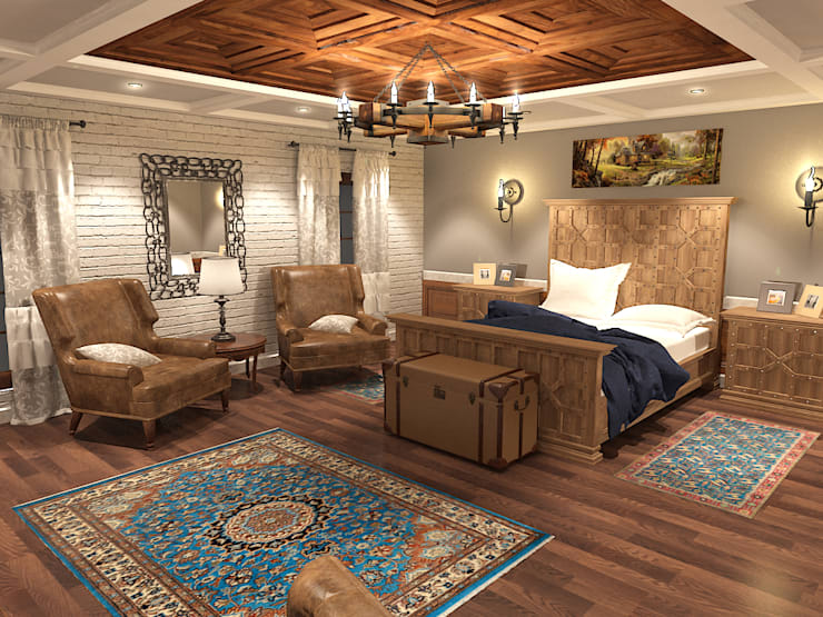 rustic Bedroom by Quattro designs