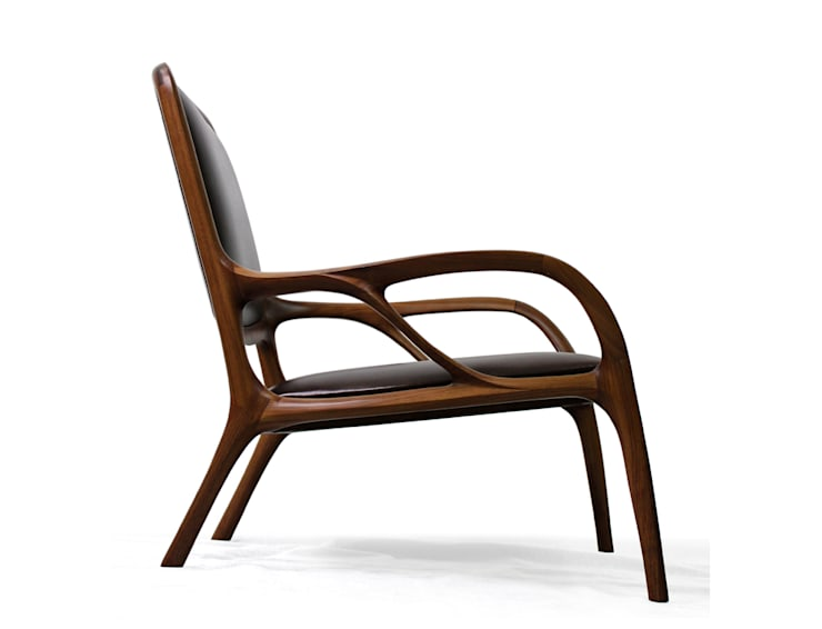 ANTLER (easy chair): KIMKIWON furniture의  거실,
