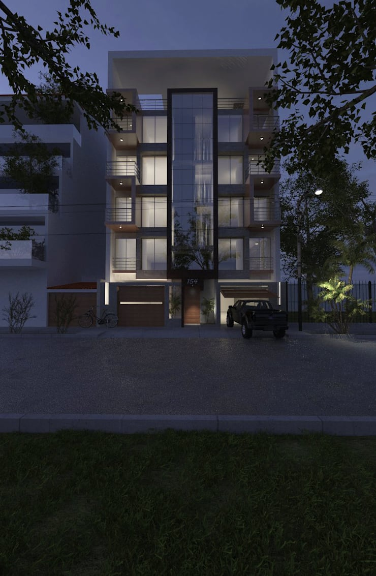 โดย CN y Arquitectos โมเดิร์น คอนกรีตเสริมแรง