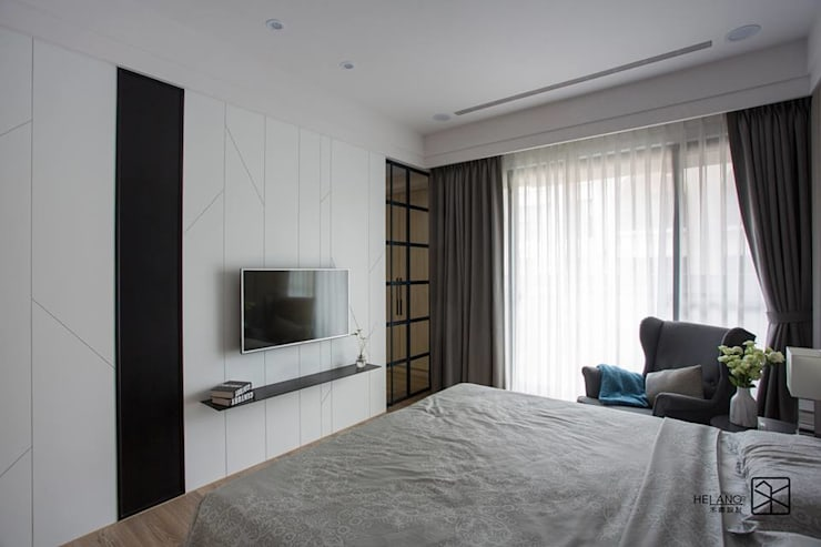 主臥室:  臥室 by 禾廊室內設計