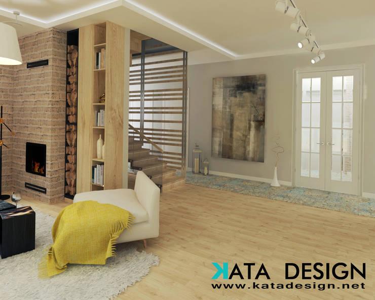 Escaleras de estilo  por Kata Design, Moderno Madera Acabado en madera