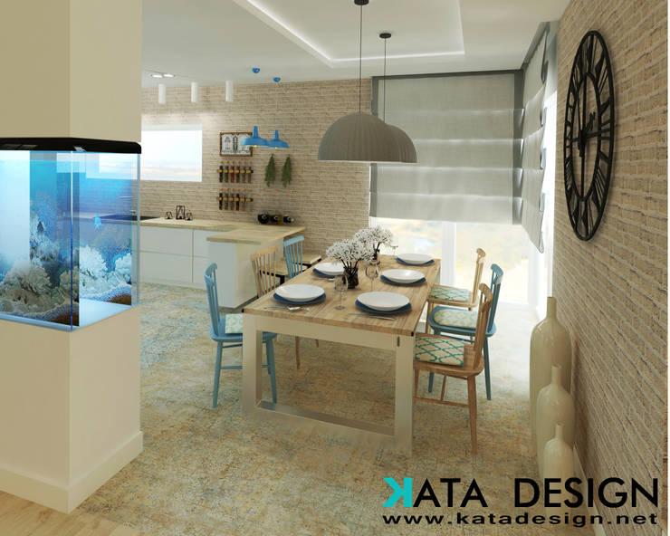 Comedores de estilo  por Kata Design, Rústico Ladrillos
