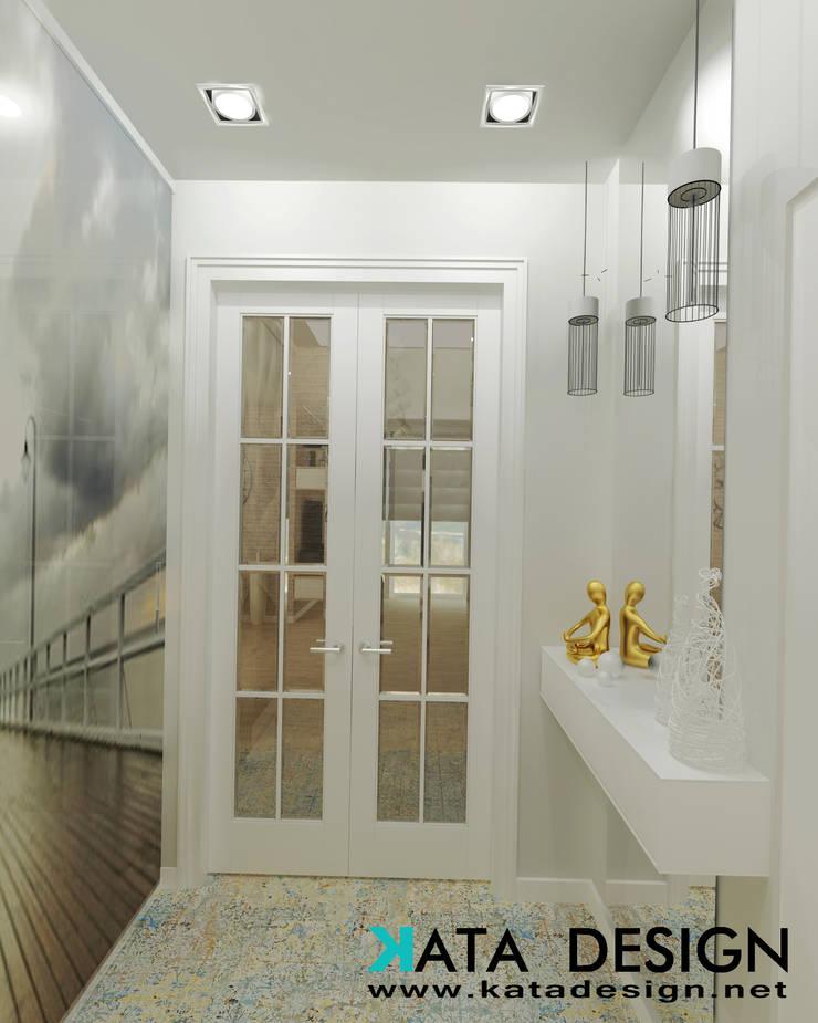 Pasillos y vestíbulos de estilo  por Kata Design, Moderno Vidrio