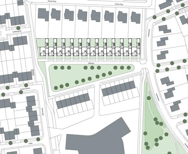 Patiowoningen Nieuw Poelveld, Eijsden:  Trap door Verheij Architecten BNA, Modern